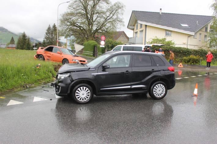 In Appenzell AI kam es zu einem heftigen Unfall.