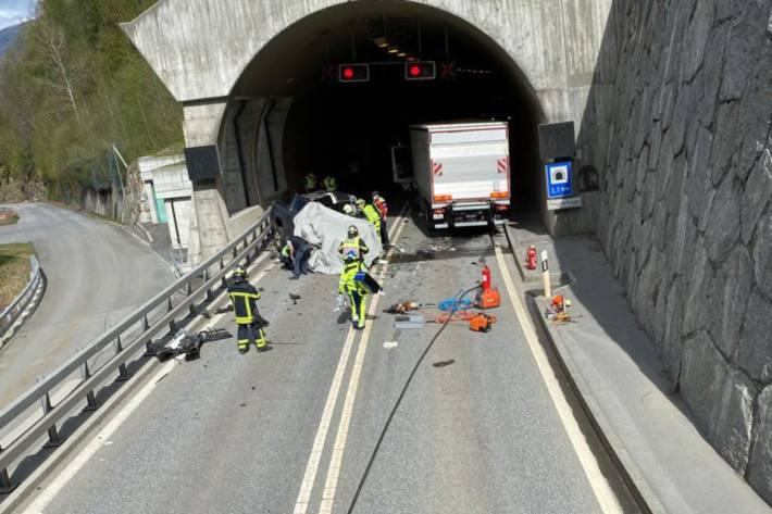 In Stalden VS kam es heute zu einem tödlichen Verkehrsunfall.