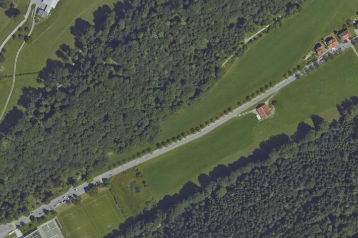 Luftaufnahme der Unfallörtlichkeit in St.Gallen