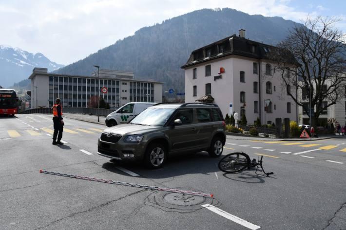 In Chur GR ist heute eine E-Bikerin verunfallt.