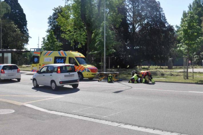 Gestern fuhr ein Rollerfahrer in Solothurn in ein stoppendes Auto.