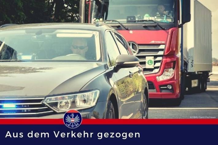 Beim Auslesen der Fahrerkarte zeigte sich in Kammern, dass der Lenker 49 Verwaltungsübertretungen begangen hatte