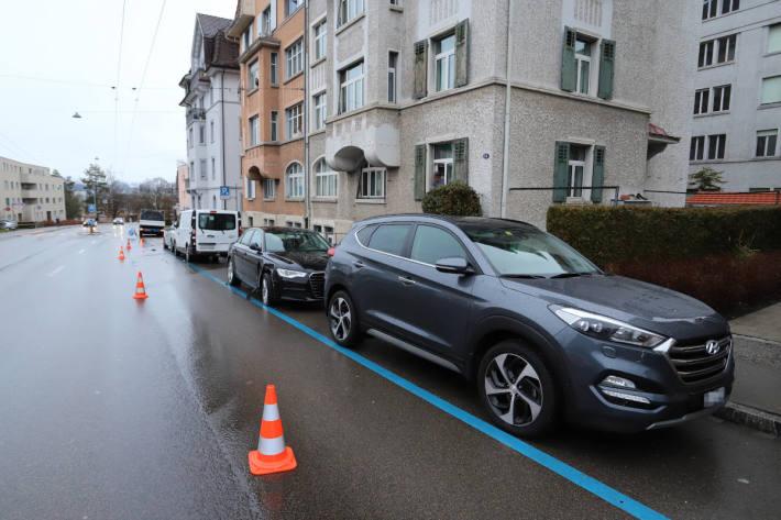 Unfallsituation in St.Gallen auf der Zürcherstrasse