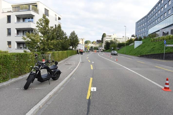 In Horgen ZH ereignete sich gestern ein Verkehrsunfall mit zwei Verletzten.
