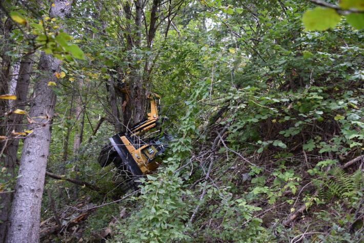 Baggerführer bei Arbeitsunfall verletzt in Obervaz GR