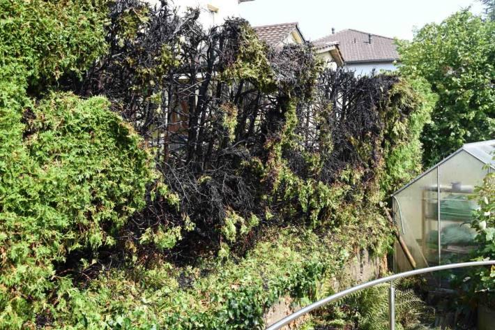 Der Brand konnte in Kirchberg rasch gelöscht werden, es entstand Sachschaden