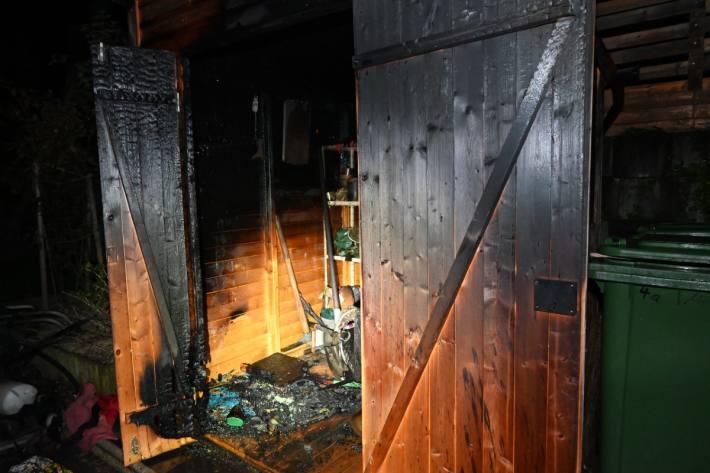 In Rebstein SG brannte ein Gartenhaus.