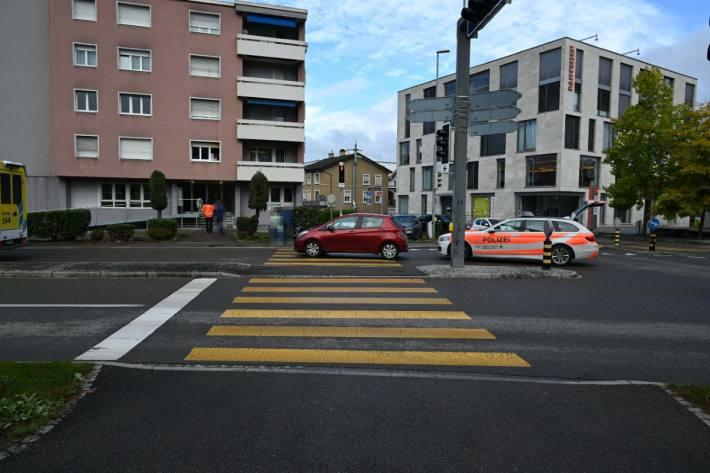 In Niederuzwil SG wurde eine Frau angefahren und verletzt.