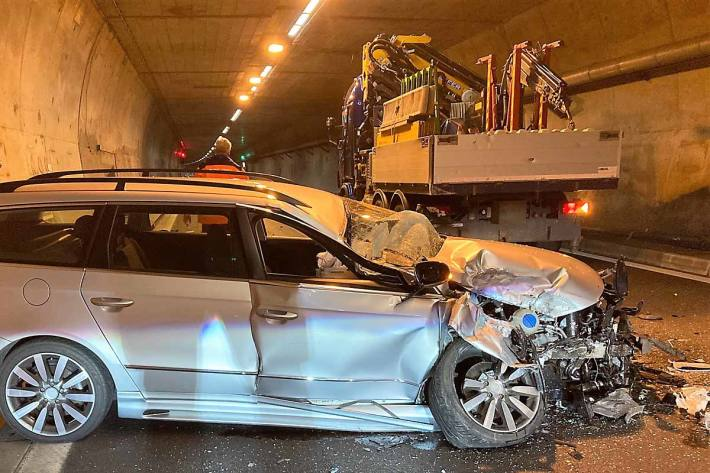 Verkehrsunfall auf der Autobahn A3 in Filzbach