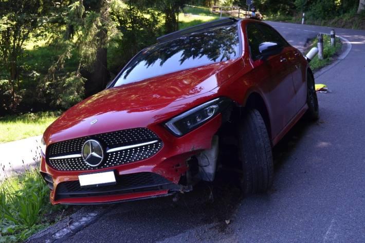 Die Lenkerin verlor gestern in Wienacht die Kontrolle über das Auto.