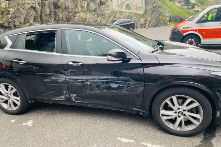Gestern kam es vor der Teufelsbrücke in Andermatt zu einem Unfall.