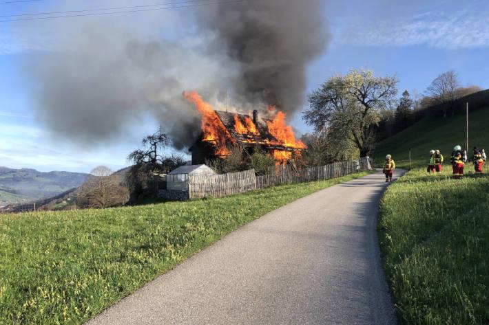 Haus bei Brand in Neu St. Johann total zerstört