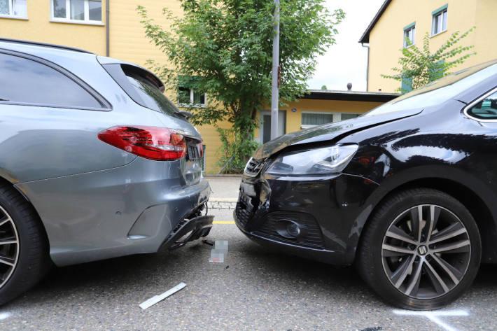Auffahrkollision mit grossem Sachschaden in St.Gallen