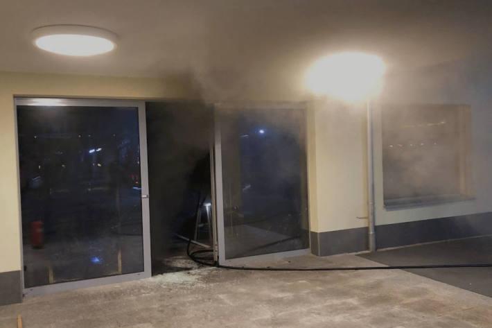 Brand in einem Ladenlokal in Siebnen