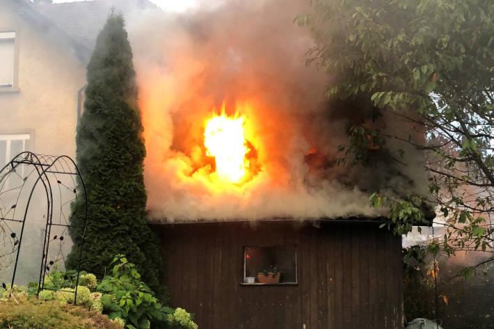 Brand von Gartenhaus in Sirnach