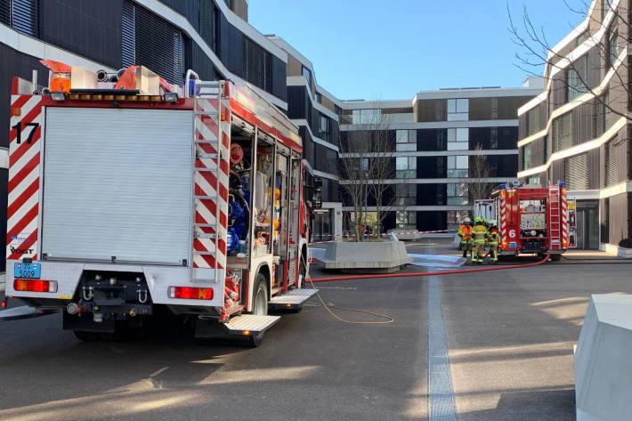 Feuerwehreinsatz in Wohnüberbauung