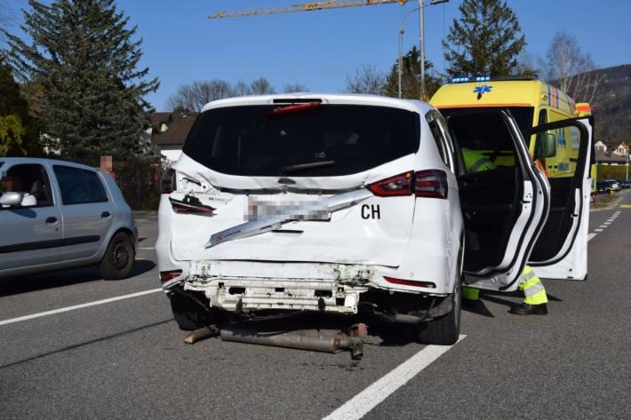 In Balsthal SO kam es gestern zu einem heftigen Unfall.
