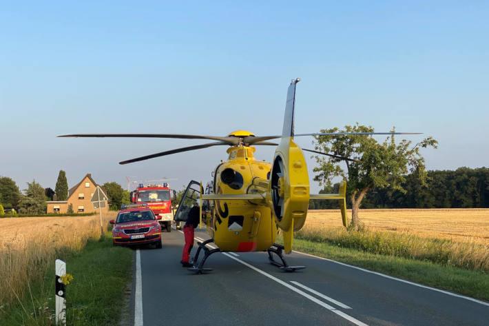 Verkehrsunfall mit einer schwer verletzten Person