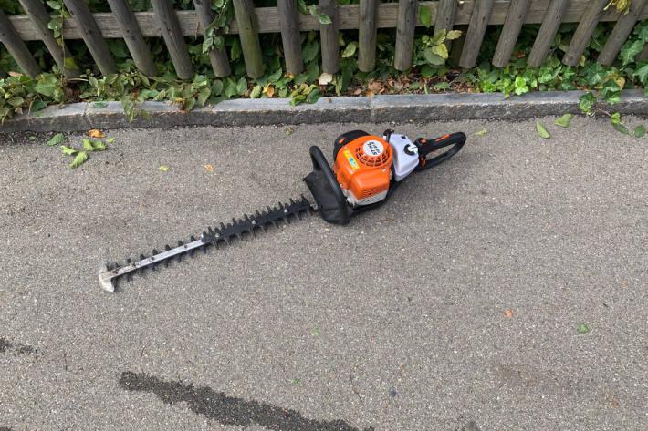 Arbeitsunfall mit Heckenschere in St.Gallen