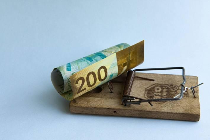 Achtung Geldbetrug. (Symbolbild)