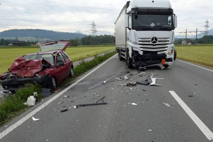 In Inwil LU kam es heute zu einem schweren Verkehrsunfall.