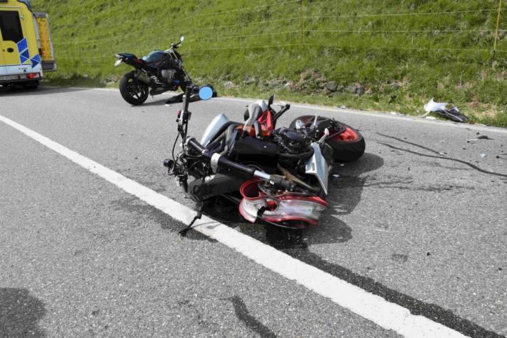 Der Motorradlenker verunfallte in Altstätten SG schwer.
