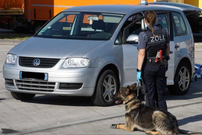 Der deutsche Schäferhund und seine Zollhundeführerin haben alle erforderlichen Lehrgänge an der Zollhundeschule in Neuendettelsau abgelegt