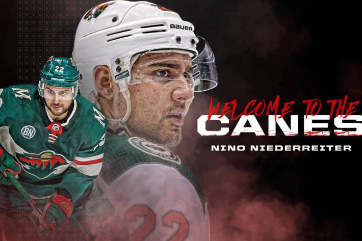 Nino Niederreiter zu den Canes!