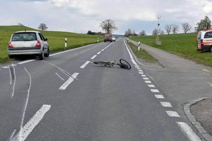 Der Velofahrer verletzte sich beim Unfall in Buttisholz LU.