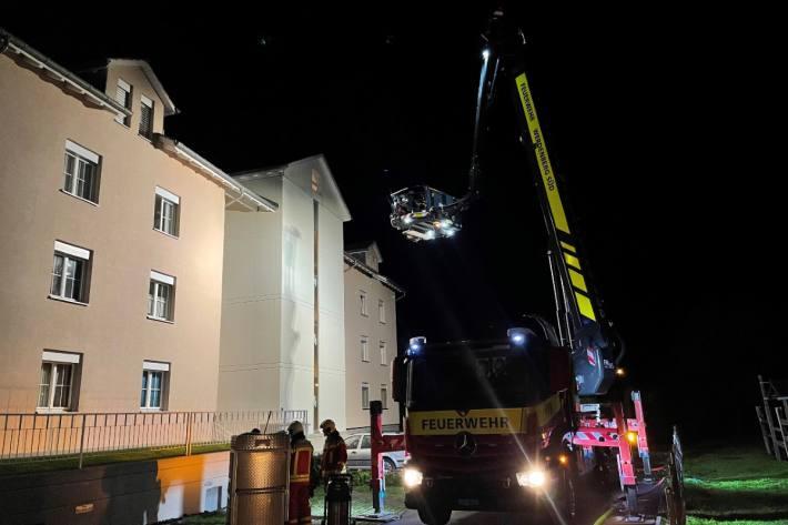In Buchs SG ist eine Frau gestern während dem Wohnungsbrand ums Leben gekommen.
