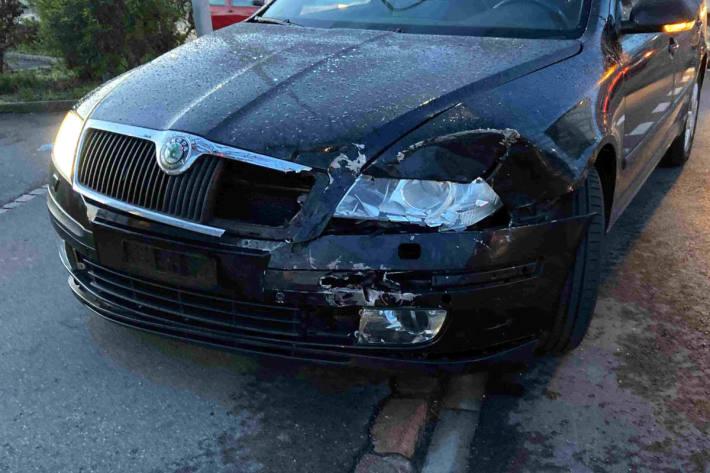 Am Unfall beteiligtes Fahrzeug in Reinach