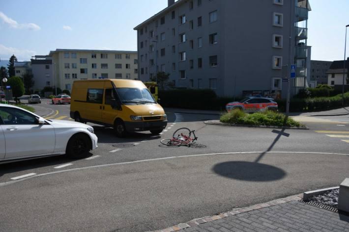 Gestern verunfallte in Rapperswil-Jona SG ein Velofahrer.