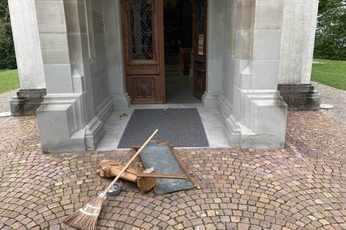 In Roschacherberg SG wurde in einer Kircher randaliert.