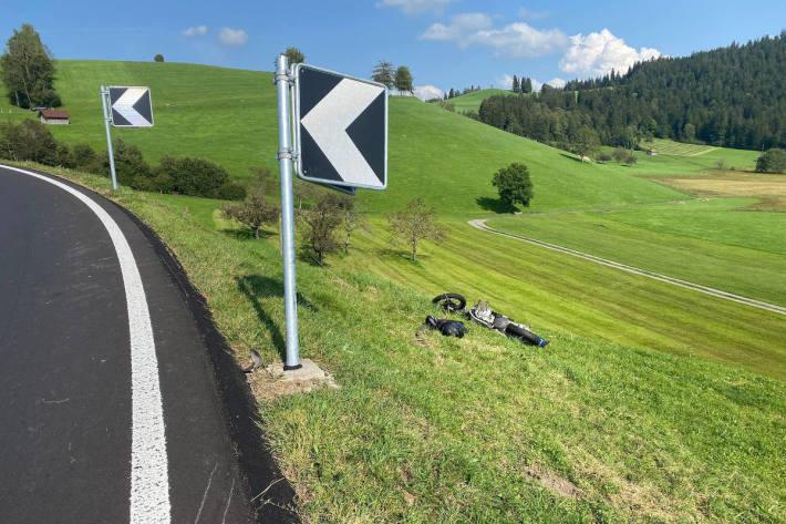 Rettungshelikoptereinsatz nach Selbstunfall bei Oberägeri