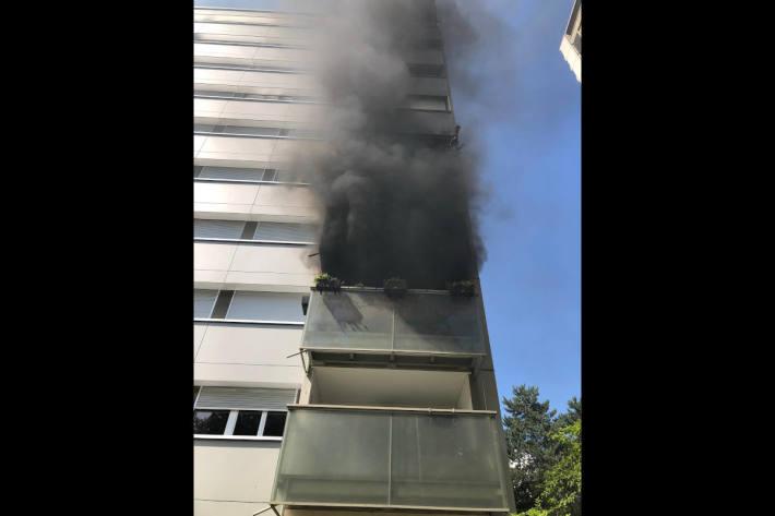 Brand an der Stapfenstrasse in Bern Bümpliz