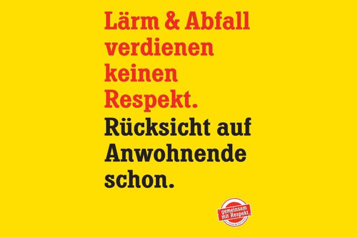 Präventionsplakat der Stadt St.Gallen