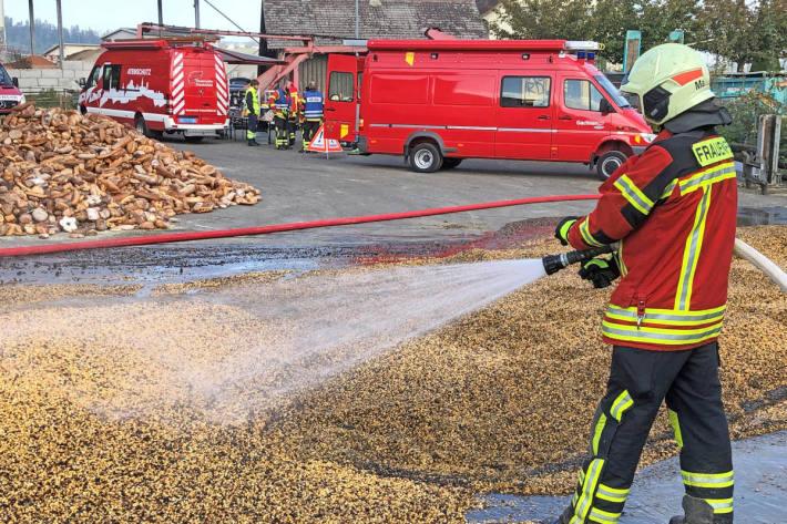 Brand in Trocknungsanlage in Gachnang