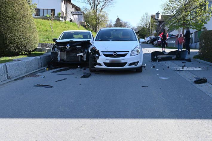 Sachschaden bei Verkehrsunfall in Schellenberg
