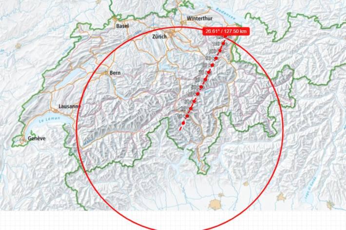 Der neue Wolf in Appenzell Innerrhoden hat eine grosse Strecke hinter sich.