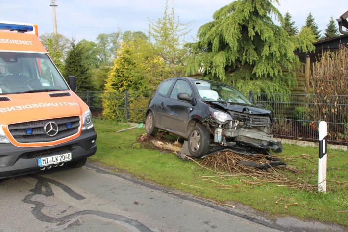 Unfallfahrzeug in Rahden