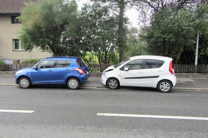 Bremsmanöver übersehen und Kollision verursacht
