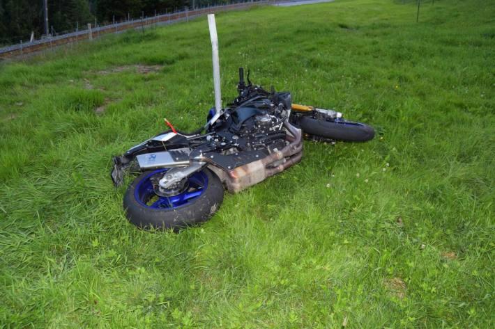 Der Motorradfahrer verunglückte gestern in Gais AR.
