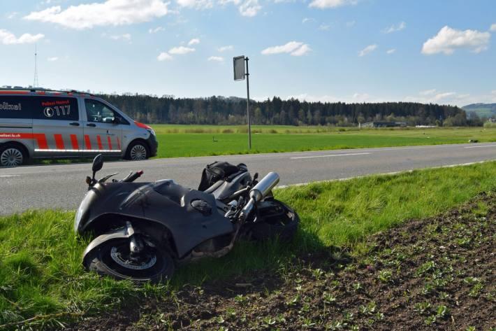 In Beromünster LU ist gestern ein Motorrad mit einem Reh kollidiert.