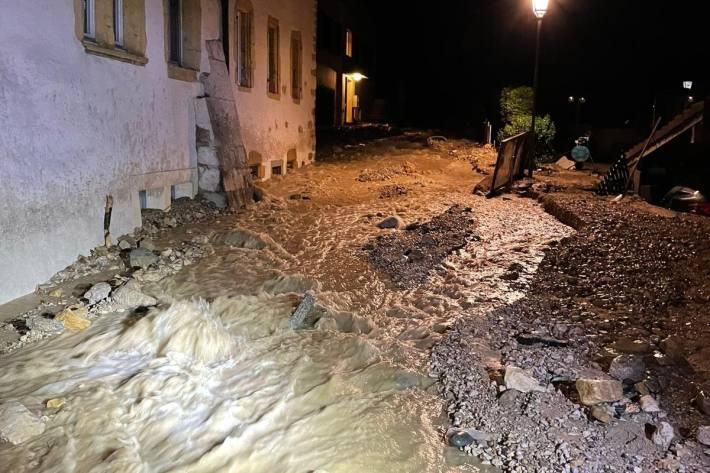 Die Schäden des Unwetters sind gross.