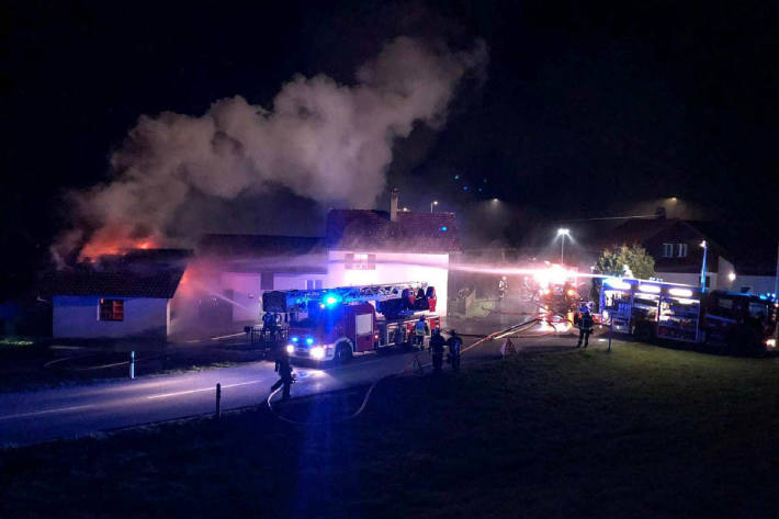 Brand eines Lokals in Treyvaux
