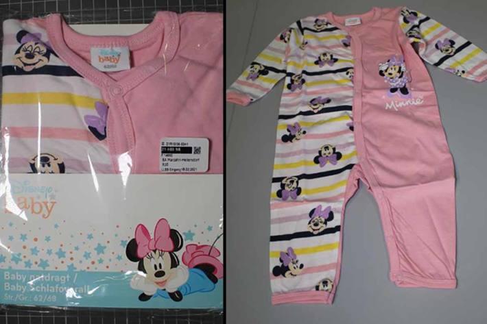 """Rückruf von """"Disney Baby"""" Baby-Schlafanzügen"""
