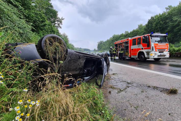 Glück im Unglück bei Verkehrsunfall auf der A43 bei Witten