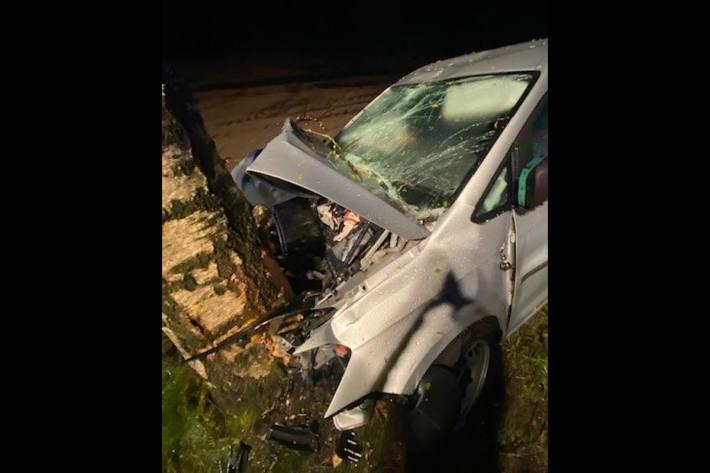 Unfallfahrzeug bei Schortens