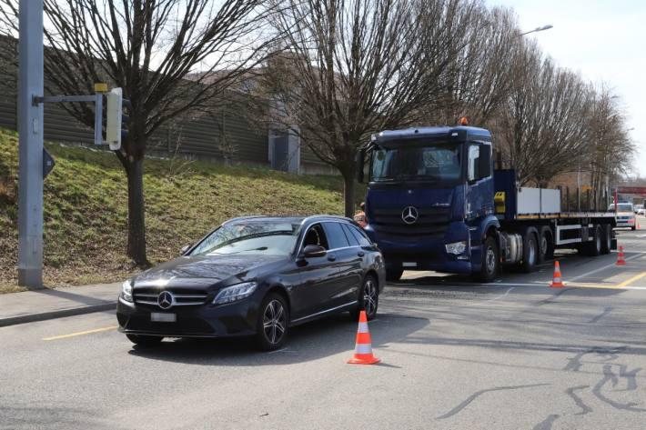 Beim Unfall gestern in St. Gallen ist Sachschaden entstanden.