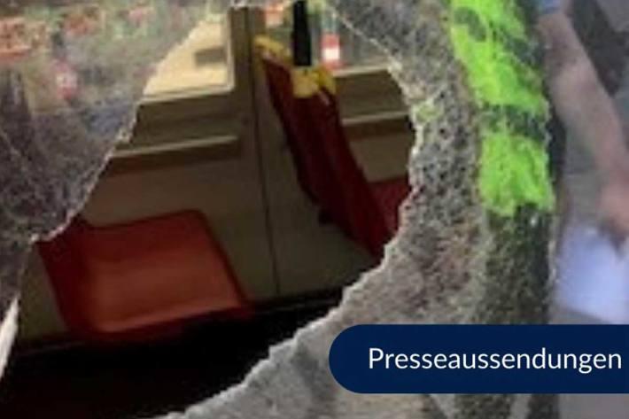 Mann beschädigt Straßenbahn in Wien